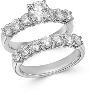 Bloomingdale's Diamond Engagement Ring Set in 14K White Gold, 2.50 ct. t.w. - 100% Exclusive