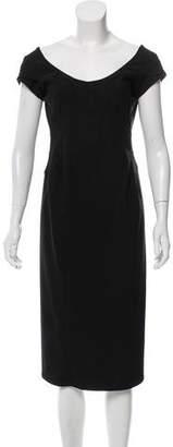 Zac Posen Wool-Blend Midi Dress