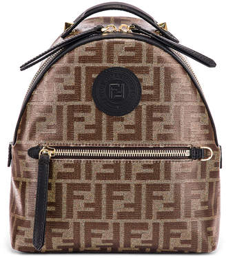 Fendi Mini Logo Backpack in Black | FWRD