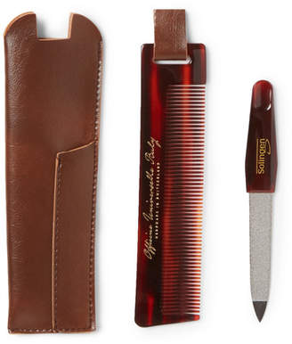 Buly 1803 - Horn-effect Acetate Comb And Nail File Travel Kit - Tortoiseshell