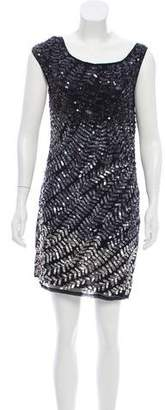 Alice + Olivia Silk Embellished Dress
