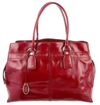 Tod's Drawstring Patent Leather Tote