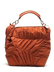Stella McCartney Pleated Nylon Bag: Orange