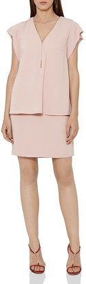 REISS Tarquin Tiered Chain-Detail Dress $340 thestylecure.com