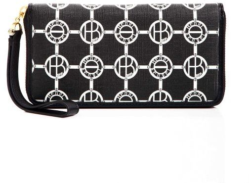 Henri Bendel Monogram Zip Wallet