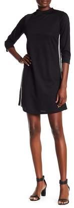 TASH + SOPHIE Stripe Side Mock Neck Shift Dress