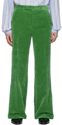 Gucci Green Velvet Trousers