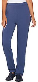 Denim & Co. Active Slim Leg Full Length Pantswith Pockets