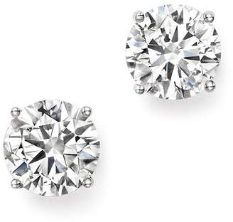 Bloomingdale's Certified Diamond Stud Earrings in 14K White Gold, 3.0 ct. t.w. - 100% Exclusive