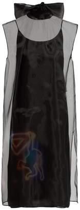 Prada Monkey Print Organza Dress - Womens - Black Multi