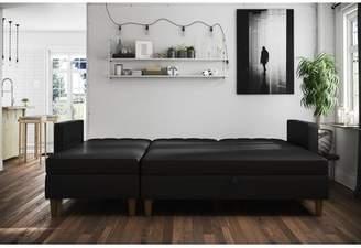 Brayden Studio Stigall Sleeper Sectional with Ottoman
