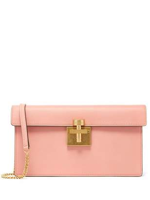 Oscar de la Renta Clay Leather Alibi Clutch