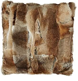 Adrienne Landau Rabbit Fur Pillow