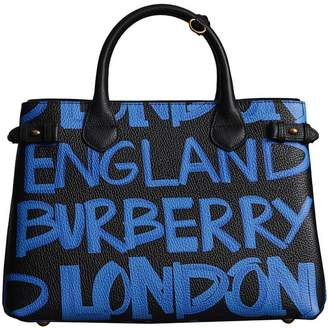 Burberry The Medium Banner in Graffiti Print Leather