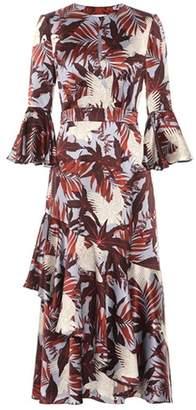 Erdem Florence silk crêpe de chine dress