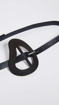 Tibi Thin Leather Belt