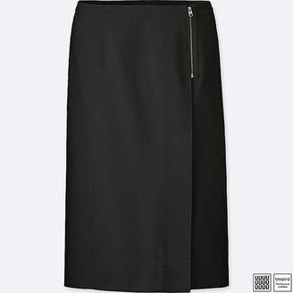 Uniqlo Women's U Wool-blend Wrap Skirt