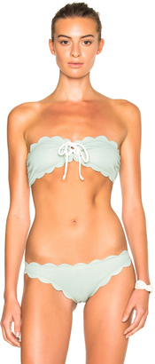 Marysia Swim FWRD Exclusive Antibes Lace Up Bikini Top $148 thestylecure.com