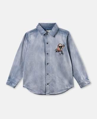 Stella McCartney enzo washed denim shirt