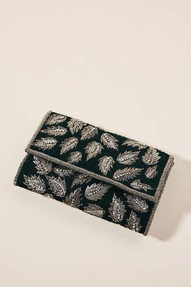 Anthropologie Falling Leaves Beaded Clutch