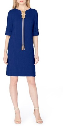 Women's Tahari Tassel Shift Dress $128 thestylecure.com