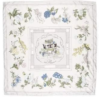 Hermes Quai Aux Fleurs Silk Scarf