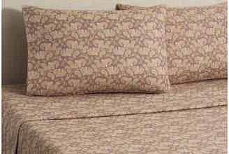Belle Epoque Flannel Paisley Sheet Set - Brown