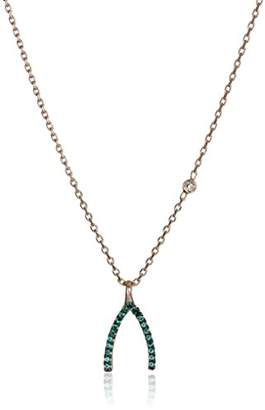 Tai Rose Gold Wishbone Chain Necklace