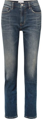 Current/Elliott The Stovepipe High-rise Straight-leg Jeans