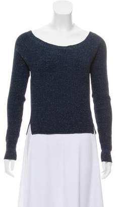 Tory Burch Cropped Crew Neck Sweater