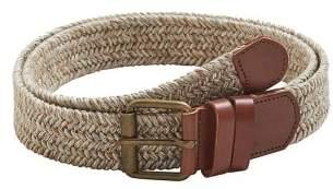 Mango man MANGO MAN Leather-appliqu?? braided belt