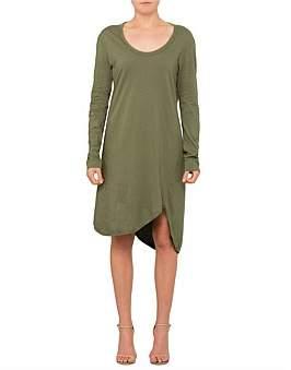 Bassike L/S Boxy T.Shirt Dress