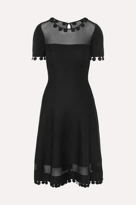 Oscar de la Renta Wool-blend Dress - Black