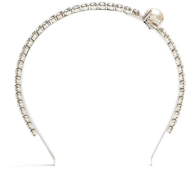 Miu MiuMIU MIU Faux-pearl and crystal-embellished headband