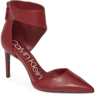 Calvin Klein Rajon Ankle Wrap Pump