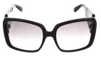 Bottega Veneta Gradient Intrecciato-Trimmed Sunglasses