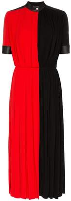 Givenchy pleated colourblock midi dress