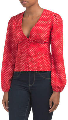 Fitted Waist Button Down Blouse