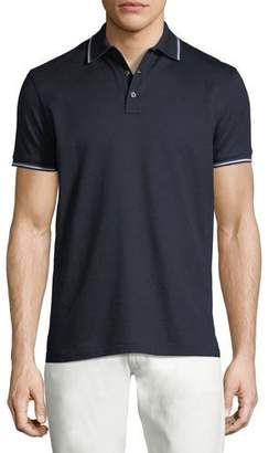 Ralph Lauren Tipped-Trim Piqué Polo Shirt