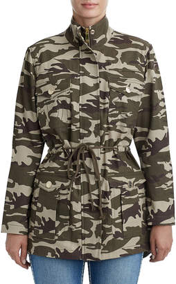 True Religion WOMENS CAMO PARKA JACKET