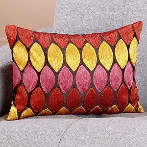 Warm Tones Geometric Toss Pillow