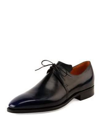 Arca Corthay Leather Derby Shoe w/Dark Blue Patina