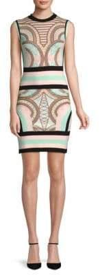Pierre Balmain Printed Sleeveless Mini Dress