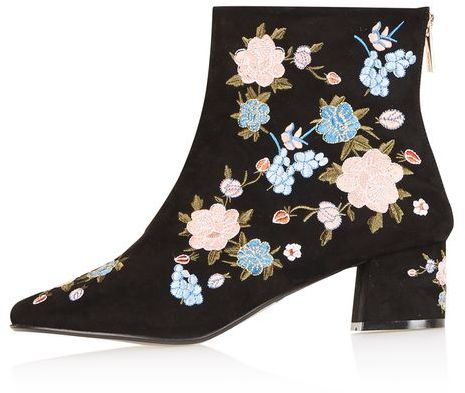 Topshop Topshop Blossom floral ankle boots