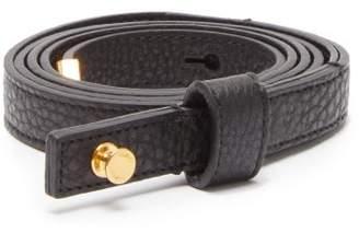 Fendi F Charm Wrap Around Leather Belt - Womens - Black