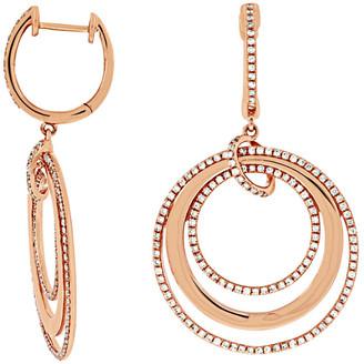 LeVian Suzy Diamonds Suzy 14K Rose Gold 0.85 Ct. Tw. Diamond Earrings