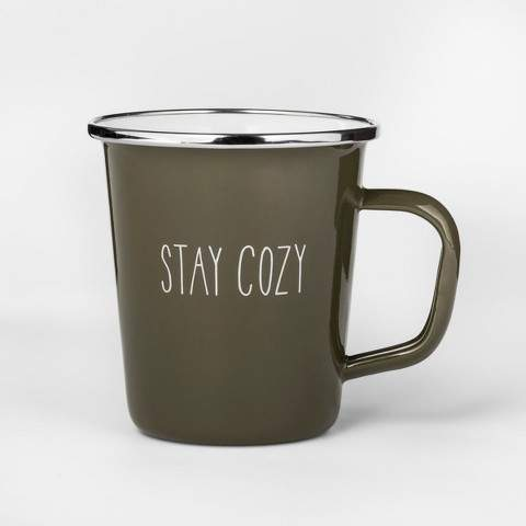 Project 62 16oz Enamel Stay Cozy Mug Green