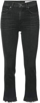Rag & Bone Jean cropped raw hem jeans
