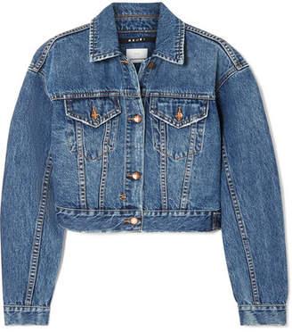 Ksubi Jett Cropped Denim Jacket - Mid denim