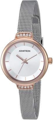 Swarovski Armitron Women's 75/5476SVTR Crystal Accented Silver-Tone Mesh Bracelet Watch